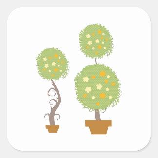 Topiary Square Sticker