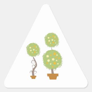 Topiary Triangle Sticker
