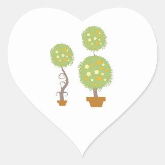 Topiary Heart Sticker