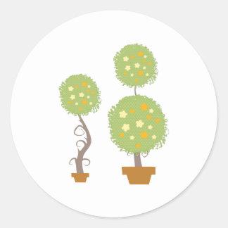 Topiary Classic Round Sticker
