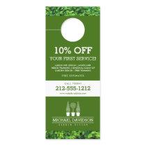 Topiary Trio Gardener Landscaping Green/White Door Hanger