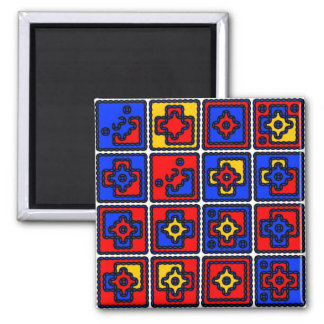 Topic and variations 2 inch square magnet