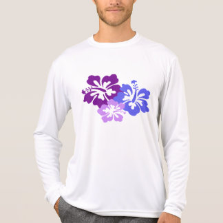 Topical Hibiscus Flower in Blue, Purple and Lilac Dresses