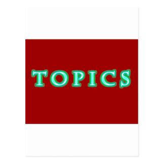 TOPICS POSTCARD