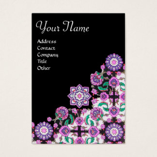 TOPKAPI, black and white,purple ,green, pink Business Card