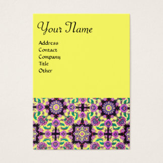 TOPKAPI,black and white,purple ,green, pink yellow Business Card