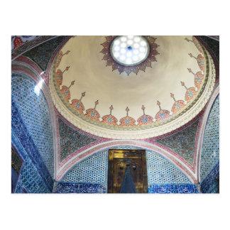 topkapi palace interiors postcard
