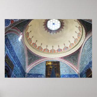 topkapi palace interiors poster
