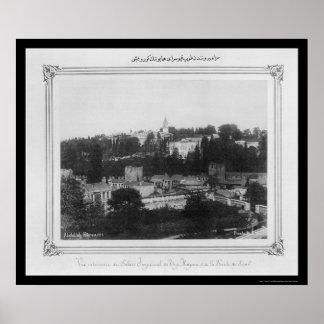 Topkapi Palace Istanbul Turkey 1885 Poster