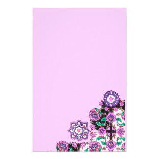 TOPKAPI / Pink Purple Green Floral Damask Stationery