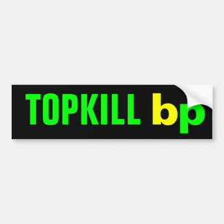 TOPKILL bp Car Bumper Sticker