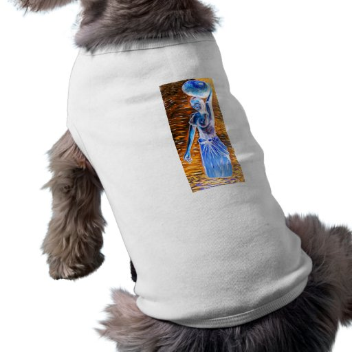 Topless African Woman Carrying Basket, Surreal Pet Clothes
