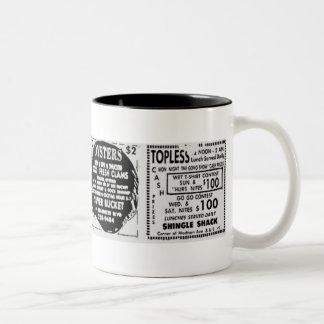 Topless Oysters Two-Tone Coffee Mug
