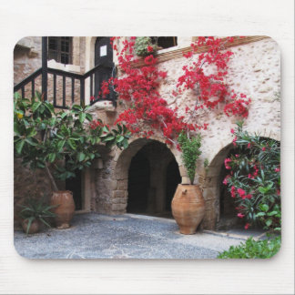 Toplou Monastery Churches courtyard CRETE GREECE Mouse Pad