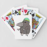 Topo lindo del animado cartas de juego