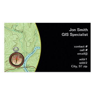 Topo map business card templates