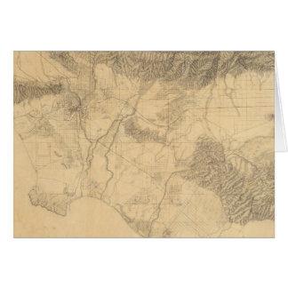 Topografía de Los Ángeles y de San Bernardino Tarjeton