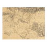 Topografía de Los Ángeles y de San Bernardino Tarjeta Postal