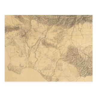 Topografía de Los Ángeles y de San Bernardino Postal
