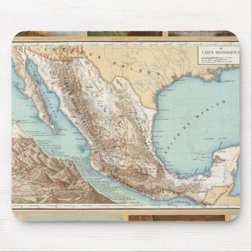 Topografía de México Alfombrilla De Ratones