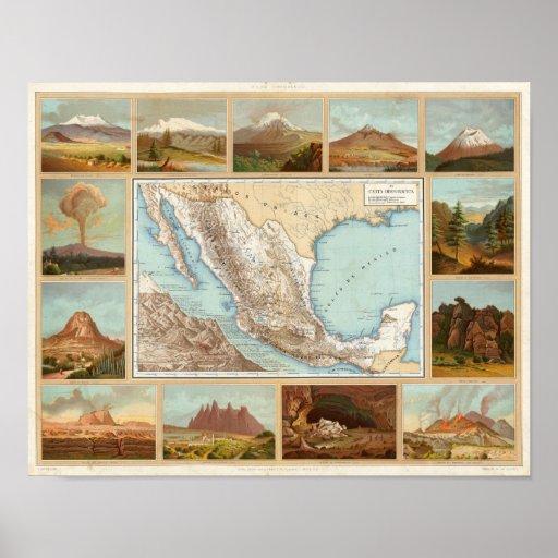 Topografía de México Poster