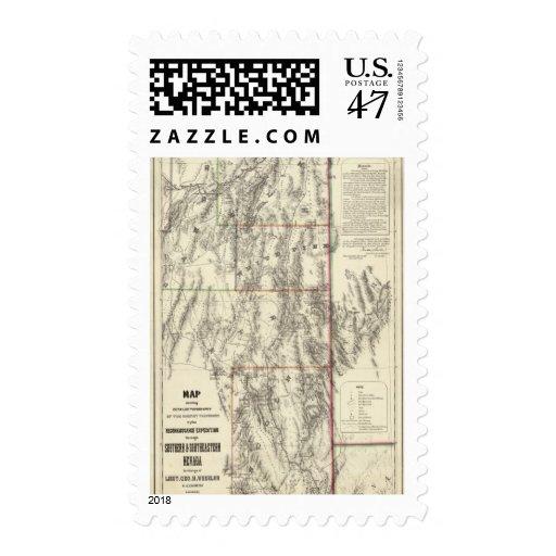 Topografía de Nevada meridional Sellos Postales