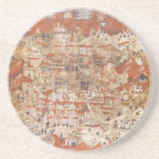 Topografía del siglo XV de Palestina de la Tierra  Posavasos Cerveza