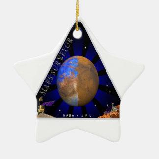 Topógrafo '98 de Marte Adorno Navideño De Cerámica En Forma De Estrella