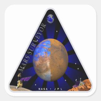 Topógrafo '98 de Marte Pegatina Cuadrada