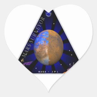 Topógrafo '98 de Marte Pegatina En Forma De Corazón