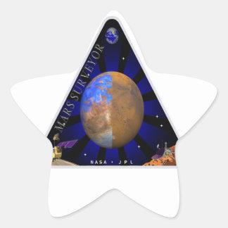 Topógrafo '98 de Marte Pegatina En Forma De Estrella
