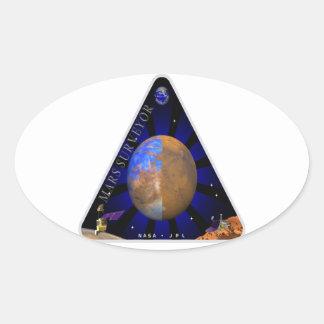 Topógrafo '98 de Marte Pegatina Ovalada