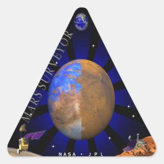Topógrafo '98 de Marte Pegatina Triangular