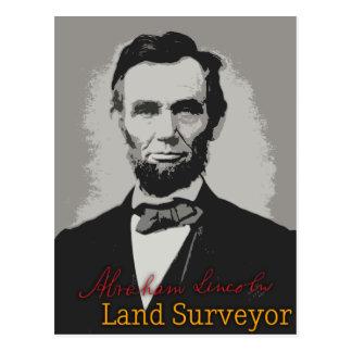 Topógrafo de la tierra de Abraham Lincoln Tarjeta Postal