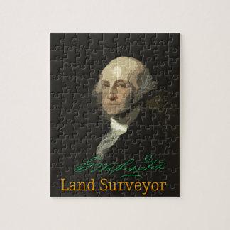 Topógrafo de la tierra de George Washington Puzzle
