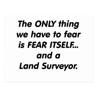 Topógrafo de la tierra del miedo postal