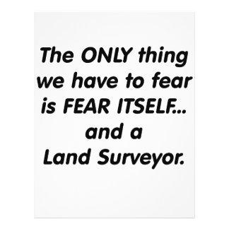 Topógrafo de la tierra del miedo tarjeton