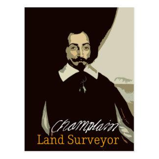 Topógrafo de Samuel de Champlain Land Tarjetas Postales