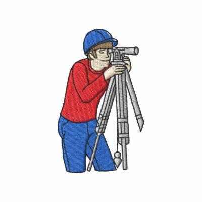 Topógrafo de sexo masculino sudadera bordada con capucha