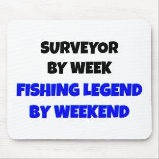 Topógrafo por leyenda de la pesca de la semana por tapete de raton