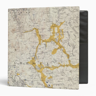Topographic and Glacial Map of New Hampshire 2 3 Ring Binder