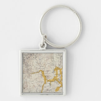 Topographic and Glacial Map of New Hampshire 2 Keychain