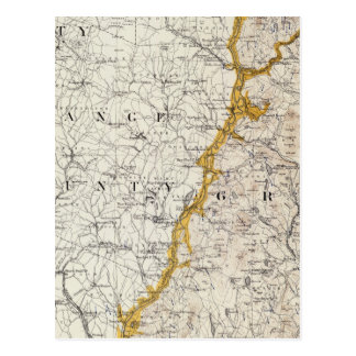 Topographic and Glacial Map of New Hampshire 2 Postcard