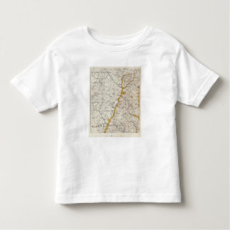 Topographic and Glacial Map of New Hampshire 2 Toddler T-shirt