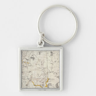 Topographic and Glacial Map of New Hampshire 3 Key Chain