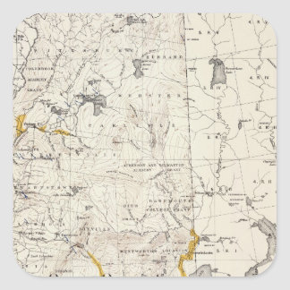 Topographic and Glacial Map of New Hampshire 3 Square Sticker