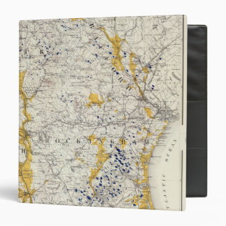 Topographic and Glacial Map of New Hampshire Binders