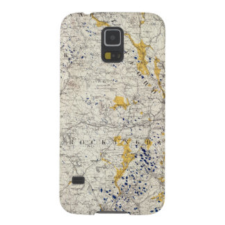 Topographic and Glacial Map of New Hampshire Galaxy S5 Case