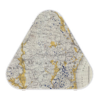 Topographic and Glacial Map of New Hampshire Speaker