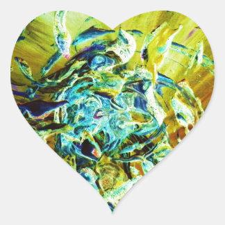 Topographic Angel Heart Sticker